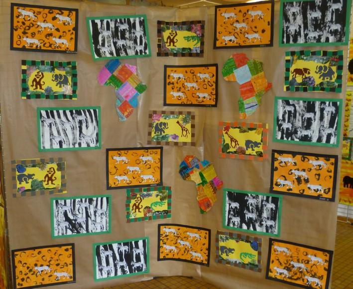 """Turbo Exposition """"africaine"""" à l'école Jean Zay - Site des enfants de  US18"""
